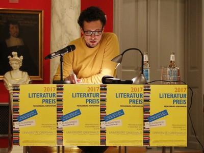 Literaturpreis Mecklenburg-Vorpommern 2017 - Steffen Dürre