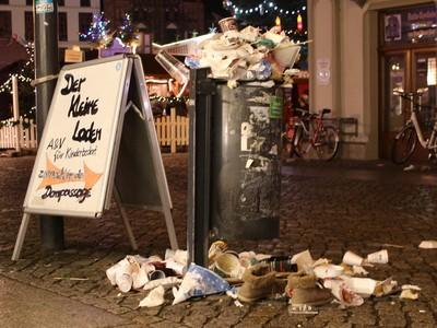 Müllkippe im Greifswalder Wintermärchen