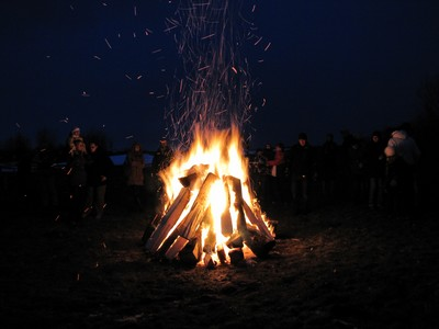 Osterfeuer in Greifswald
